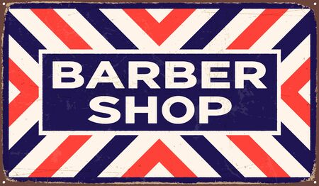 Vintage metal sign - Barber Shop - Vector EPS10. Grunge and rusty effects can be easily removed for a cleaner look.