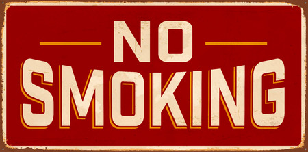 No Smoking Vintage Metal Sign with realistic rust and used effects.