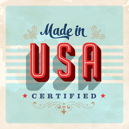 Made in USA label - Vector  Grunge effects can be easily removed for a brand new, clean sign.