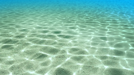 summer beach rendering is good to see through the clear water & sand Stock Photo