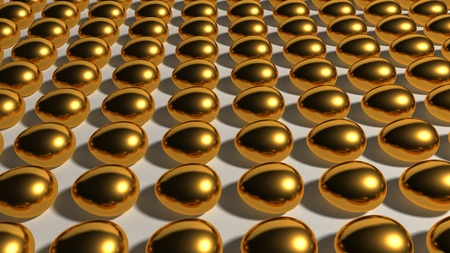This gold eggs industry represent the theme of finances, Savings and other investments.