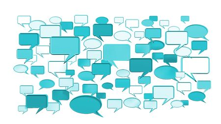 msn: This Blue conversation icons 3D can use for any graphic design, printing , art & web design. etc. Stock Photo