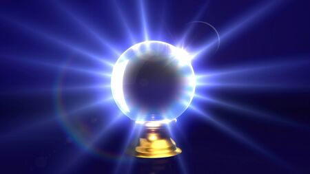 crystal ball lens flare background. Representing the mystery & fortune idea. Stock Photo - 10288900