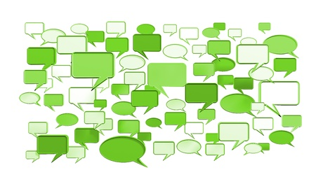 msn: Green, conversation icons 3D can use for any graphic design, printing , art & web design. etc.