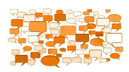 msn: orange conversation icons 3D can use for any graphic design, printing , art & web design. etc. Stock Photo