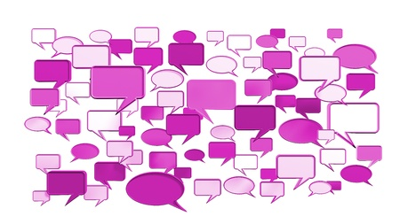 msn: Pink conversation icons 3D can use for any graphic design, printing , art & web design. etc.