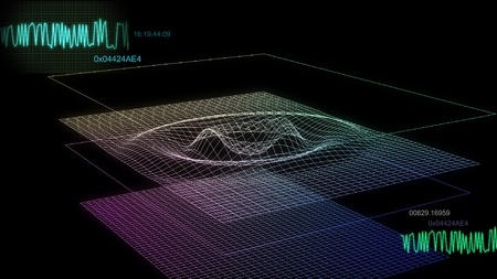 computer simulation: audio wave simulation use for music, weather or computer Calculating  etc This is the best way for any graphic design,video production, TV Broadcasting, web design etc.