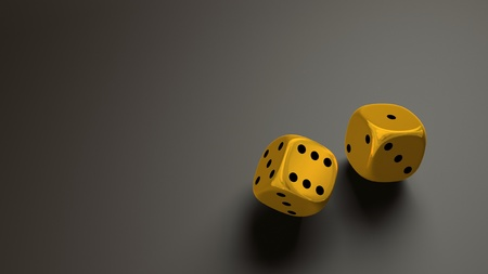 gold dice wide Stock Photo - 11423415