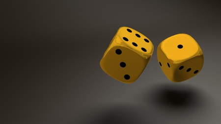 gold dice photo