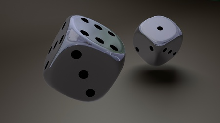 sliver dice closeup photo