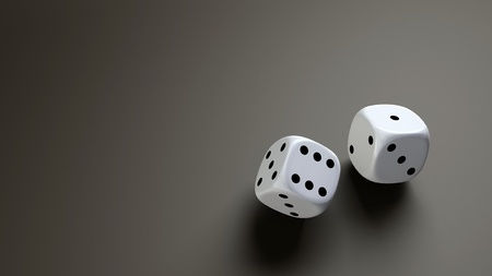 white dice wide photo
