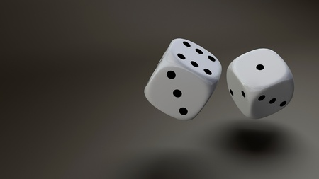 white dice photo