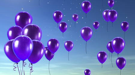 kids birthday party: balloon in the sky
