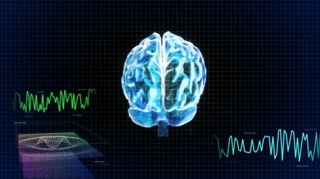 the crystal brain render for medical and biology concept Stock Photo - 12403648