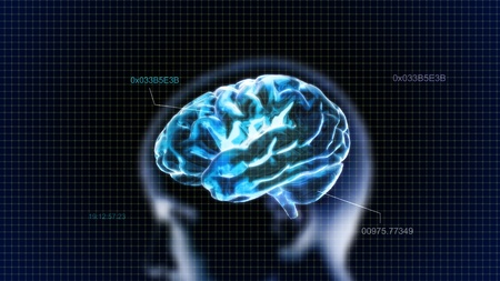 minds: the crystal brain render for medical and biology concept Stock Photo