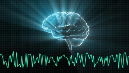el render del cerebro de cristal para el concepto de medicina y biología