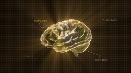the crystal brain render for medical and biology concept Stock Photo
