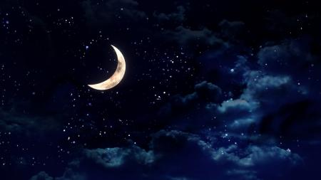 astronomie: die Schönheit Mond im Nachthimmel