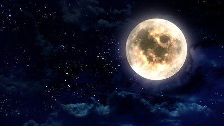 the beauty moon in the night sky Stock Photo - 12403521