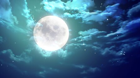 moon and stars: the beauty moon in the night sky Stock Photo