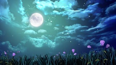 luz de luna: la belleza de la luna en el cielo nocturno