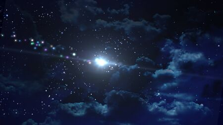the beauty night sky with star background photo