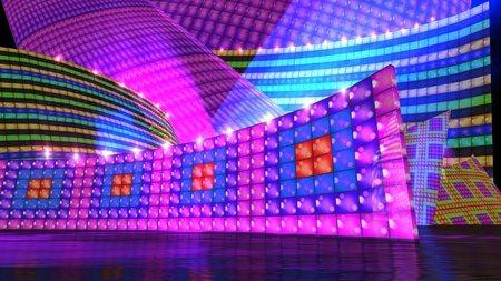 The disco stage background for virtual set photo