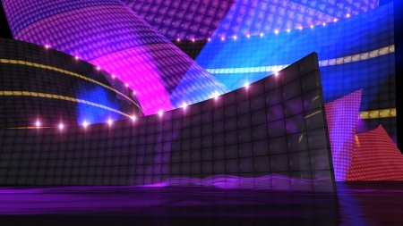 The disco stage background for virtual set Stock Photo - 12403646