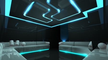 equalize: the Nightclub for any luxury concept Stock Photo