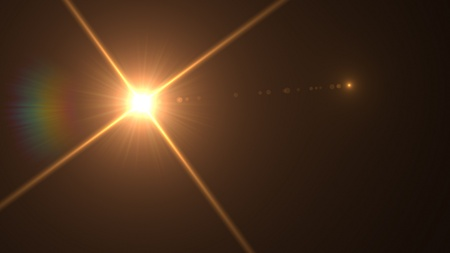 lens flare: light flare special effect