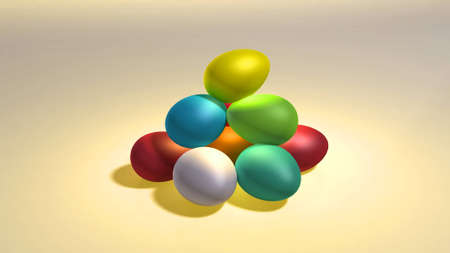 colorful Easter eggs background Stock Photo - 12753775