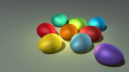 colorful Easter eggs background Stock Photo - 12753776