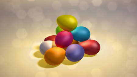 colorful Easter eggs background Stock Photo - 12753781