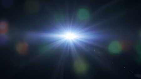 beauty spot: lens flare effect