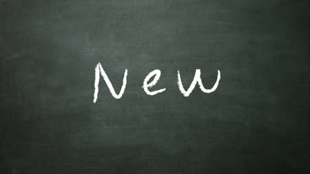 intro: the text of new write on the blackboard
