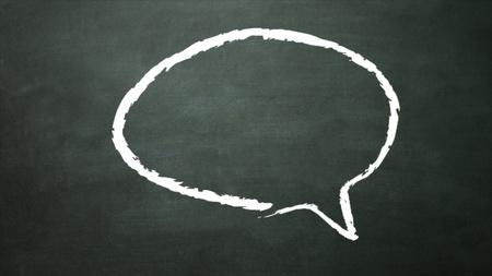 eduction: blackboard representing the conversation icon