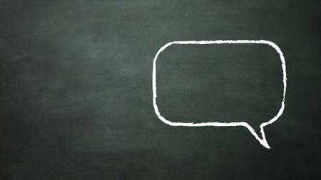 blackboard representing the conversation icon