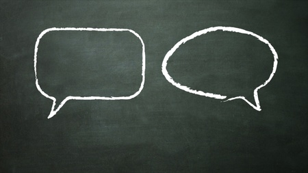 eduction: the blackboard representing the social network concept Stock Photo