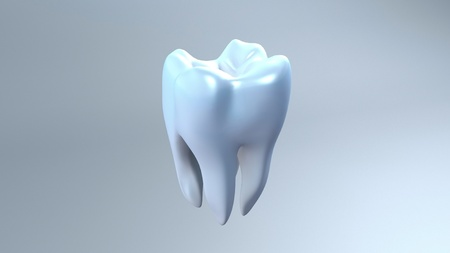 The health of white tooth for tooth care concept. photo