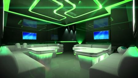the Nightclub interior design with the cyber style theme  Reklamní fotografie