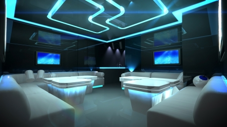 the Nightclub interior design with the cyber style theme  Banque d'images