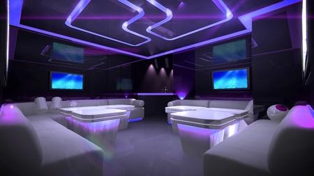 the Nightclub interior design with the cyber style theme  Stockfoto