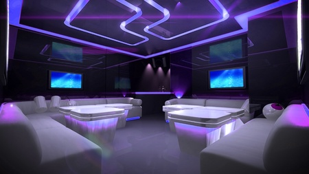 the Nightclub inter design with the cyber style theme  Stock Photo - 12835945