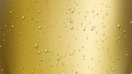 the bubbles floating up in the liquid of drink. photo