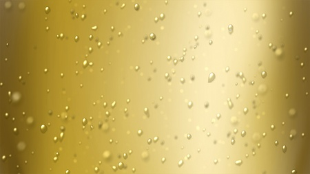 the bubbles floating up in the liquid of drink.