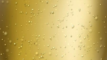 bouteille champagne: les bulles flotter dans le liquide de boisson. Banque d'images