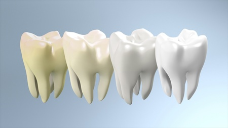 The process of health white tooth for tooth care concept