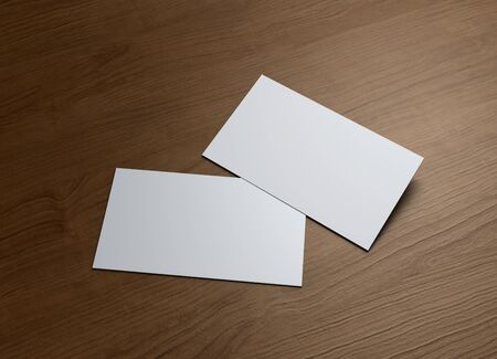 wooden insert: This business card presentation for promotion of Corporate identity  Stock Photo
