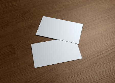 This business card presentation for promotion of Corporate identity  Stock Photo