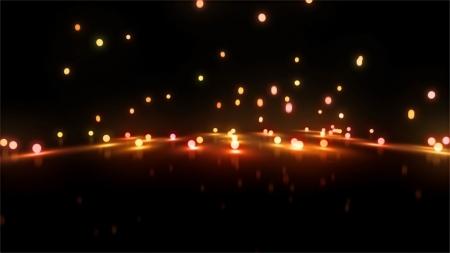 3d still rendering of bouncing light balls background Standard-Bild